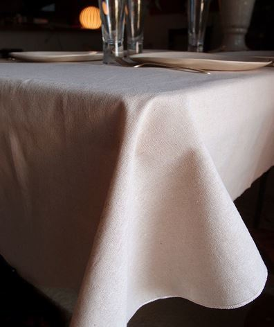 "Linen Table Cover with Selvage Edge, 54""x 54"", Priced Each"