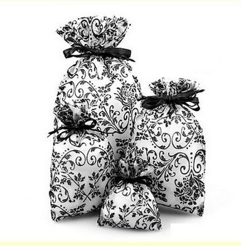 """6""""x  10"""" Sheer Novelty Bags with Damask Design, 6 Pk"""