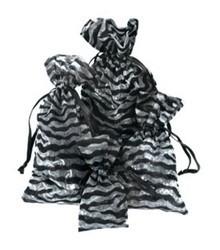 "2 3/4""x  3"" Sheer Novelty Bags with  Zebra Design, 12 Pk"