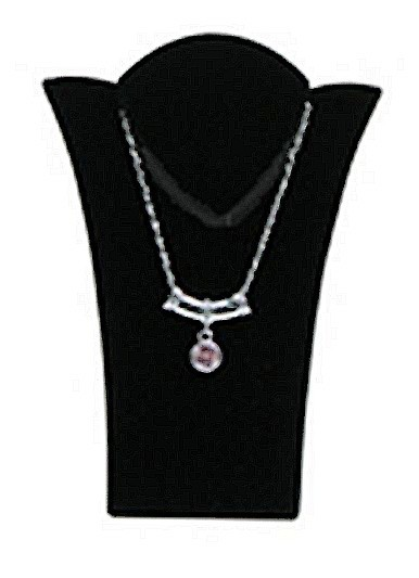 """Necklace Display with Easel, 2 15/16""""W x  3 7/8""""H, Black Velvet, Priced Each"""