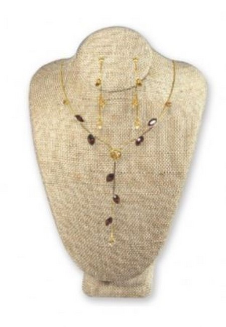"""Jewelry Bust Display,  5""""x 4 1/8""""x  7  1/2""""H, Linen Covered, Priced Each"""