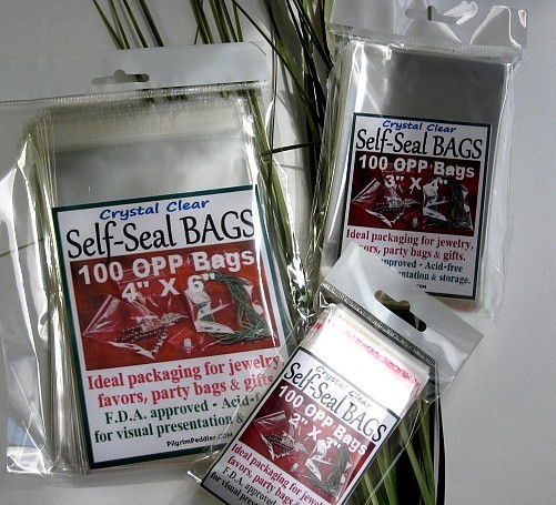 """2""""x 3"""" OPP Bags with Self-Adhesive Seal, 100 Pk  Retail Packaged"""