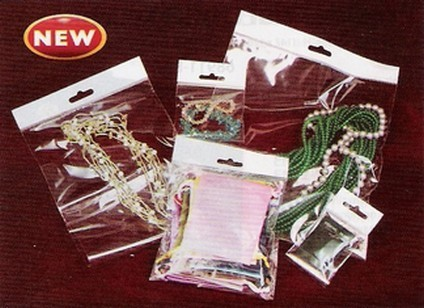 "4""x 6"" OPP Bags with Self-Adhesive Seal and Hang Header, 500 Pk"