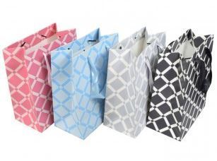 Merchandise Bags, Square Pattern Totes, 7