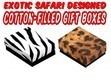 Safari Design Jewelry Boxes, 3 1/4