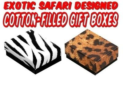 Safari Design Jewelry Boxes, 2 5/8