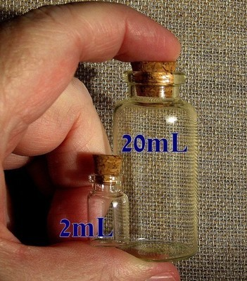 2ml Glass bottle with cork, 24 Pack