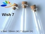 Wish Bottle, #7 Tube, Glass with Cork, 24 Pk