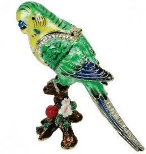 Trinket Jewelry Box, Parrot, 3
