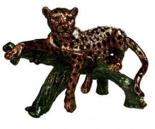 Trinket Leopard Box, 4 5/8''W x 2''D x 3 3/8''H