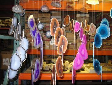 Agate Windchimes, 7 Agate Slices per Windchime