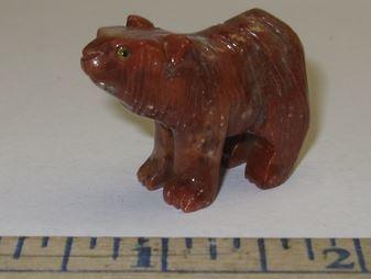 Miniature Soapstone Carving, Bear, 1 1/2