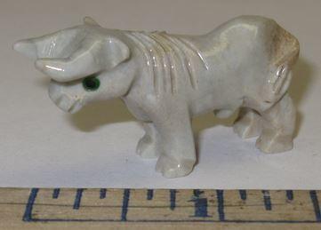 Miniature Soapstone Carving, Bull, 1 1/2