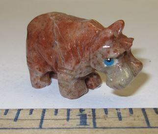 Miniature Soapstone Carving,  Hippo, 1 1/2