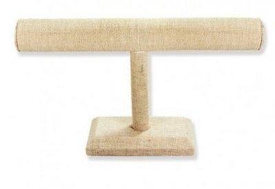Linen T-Bar Bracelet Display, 12