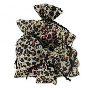 "4""x 6"" Sheer Novelty Bags with Leopard Design, 12 Pk"