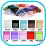 Organza Drawstring Pouches, 1 3/4''W x 2''H, Choose from 10 Colors, 12 Pk