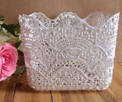 "Lace Basket, 6""x 6""x 6 1/2""H, Priced Each"