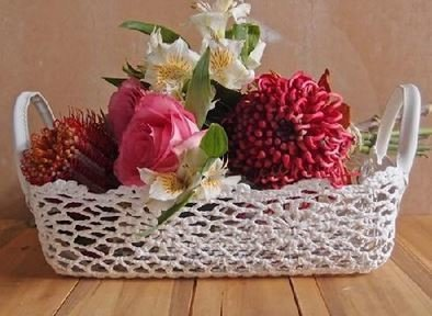"Lace Baskets, 12""x 9""x 4 1/4""H, Priced Each"