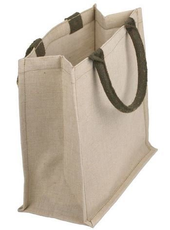 "Jute and Cotton Blend Tote Bags, 12""x 7 3/4""x 12""H, Priced Each"
