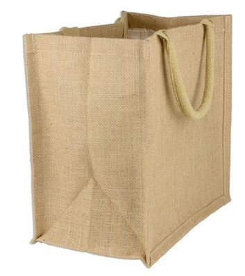 Jute Shopping Totes, Natural Color, 15 1/2