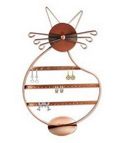 """Metal Earring Display, 8 1/2""""Dia. x 13 1/2""""H, Copper or Antique Finish, Priced Each"""