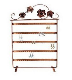 "Metal Earring Display, 11 3/4""W x 17""H, Copper Finish, Priced Each"