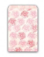 "Paper Gift Bags with Pink Floral Design, 4""x 6"", priced Per 100 Bags"