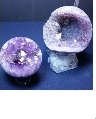 Amethyst Geode Spheres, Priced Each