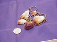 Citrine Points Keychains, Priced Per 12 Pack
