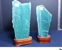 Aventurine on a Wood Base, 2 lb Size, Priced Each