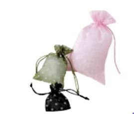 "Organza Bags with Polka Dot Print, 3""x 4"", Choose From 12 Colors, Priced Per 12 Pack"