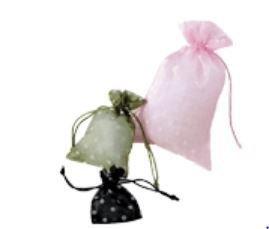 Organza Bags with Polka Dot Print, 3