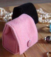 Small Velvet Jewelry Holder, Pink, 1 5/8