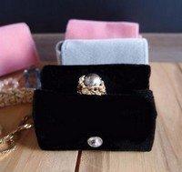 Medium Velvet Jewelry Holder, Black, 2 5/8