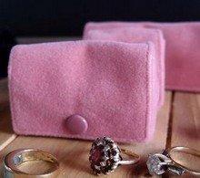 Medium Velvet Jewelry Holder, Pink, 2 5/8