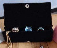"Large Velvet Jewelry Holder, Black, 4 3/4""W X 1 5/8""H X 1 1/4""D, Priced Each"