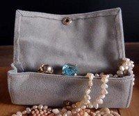 "Large Velvet Jewelry Holder, Grey, 4 3/4""W X 1 5/8""H X 1 1/4""D, Priced Each"