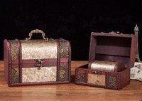 Vintage Style Wooden Embossed Flower Pattern Box, Set of 3 , Priced Per Set