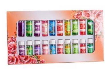 24 Essential Oil Set, 12 Various Scents in 5ML Bottles, boxed, Price Per Set