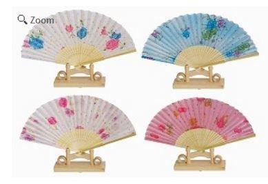 "Decor Fans, Bright Colorful, 15"" Opened, Priced Per 12 pk Assorted"