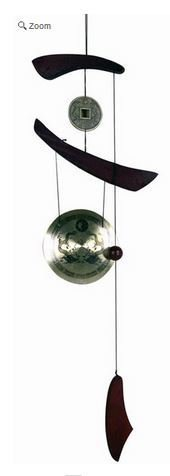 "Brass Gong Wind Chime, 36""H x 8""W, Priced Each"