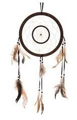 Traditional Dream Catcher, Brown Double Circle, 21