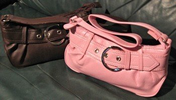 Ladies Purses, Faux leather with Inside Zippered Pocket, Choose Color, Priced Each