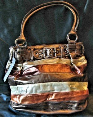 Ladies Hand Bag, Multi Colored Brown with Matching Lining, Priced Each