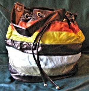 Ladies Hand Bag, Multi Colored With Matching Lining, Priced Each