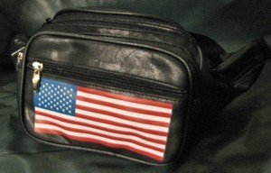 Ladies Fanny Pack With American Flag, Priced Each