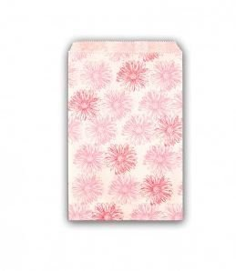 """Gift Bagswith Pink Floral Design, 6""""x 9"""", Fpriced Per 100 Pk"""