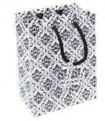 "Paper Gift Merchandise Bags, Damask Design, 3""x 2""x 3 1/2"", 20 Pk"