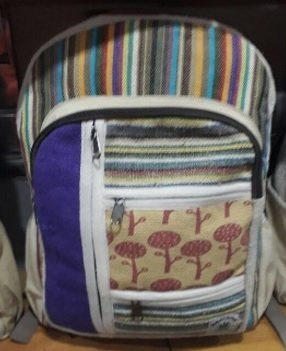 Backpack with Front Zipper Pouches and Beautiful Design, 10.5